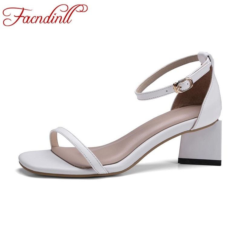 FACNDINLL new fashion genuine leather summer shoes woman rome gladiator sandals high heels sexy open toe women party dress shoes british fashion sandals black white mixed color high heels shoes woman gladiator huarache open toe chaussure femme dress booties