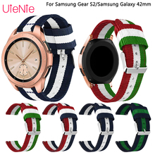20mm Strap for Samsung Gear S2 Frontier Classic watchband for Samsung Galaxy 42mm replacement wristband smart watch band все цены