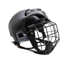 Free shipping 2016 hot sales ice hockey helmet with high metal mask and field