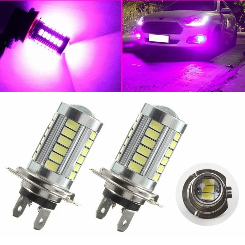купить CYAN SOIL BAY 2pcs H7 33 SMD 5630 LED Car Driving Bulb Pink Purple High Power Fog Light по цене 238.87 рублей