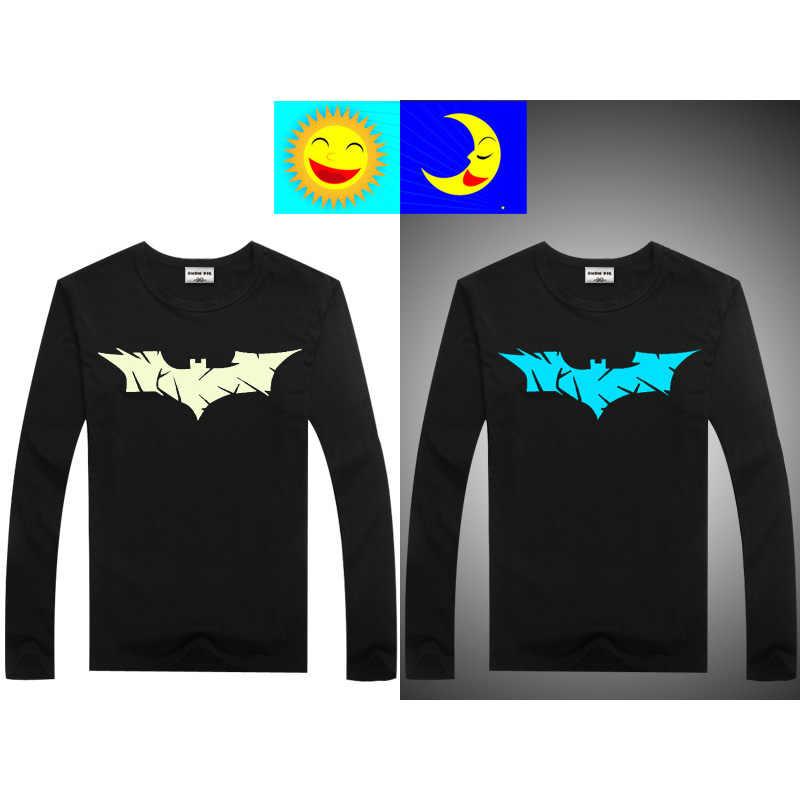 41bdd77a9505a ... Светящаяся футболка с длинными рукавами для мальчиков, футболка с  Бэтменом, рождественские топы для девочек ...