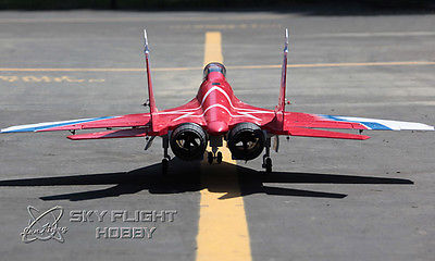 SCALE LX Red Metal Twin 70mm EDF MIG29 ARF/PNP RC Airplane Model W/ Motor Servos ESC Vector Nozzle W/O Battery