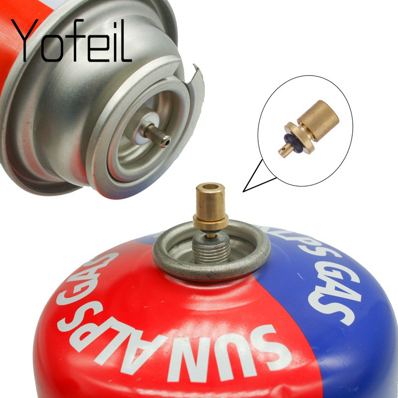 Picnic Gas Refill Adapter Outdoor Camping Hiking Stove Gas Cylinder Tank Refill Adapter Practical Stove Accessory