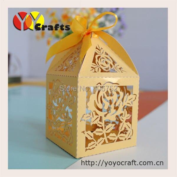 Хороший Кружева Лазерная резка пользовательские Роза свадебный шоколад коробки конфет модель