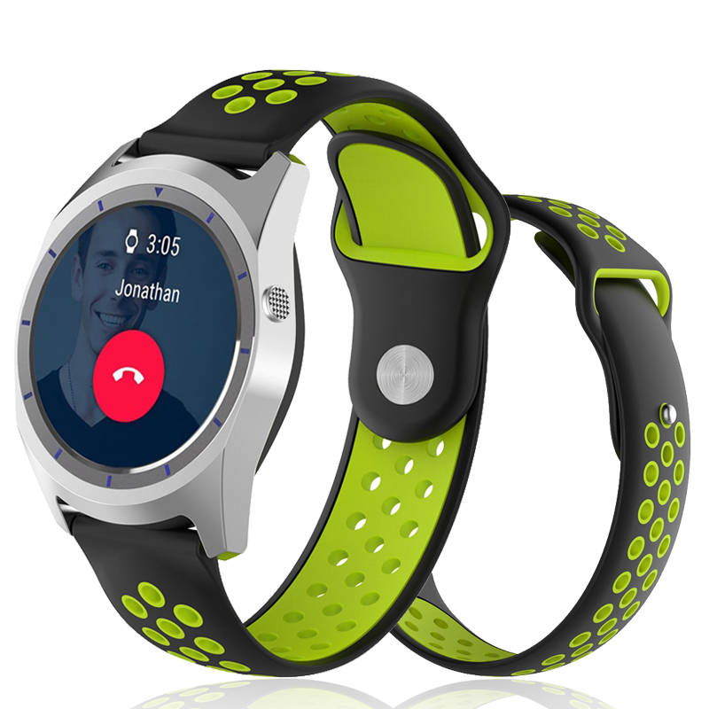 Breathable Silicone Strap for Xiaomi Huami Amazfit 2/ZTE Quartz/Samsung Gear S3/Pebble Time Smart Watchbands Sport Wristband