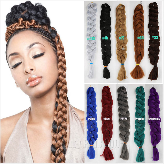 5pc Xpression Braiding Hair 84 Box Braid Hair Extensions
