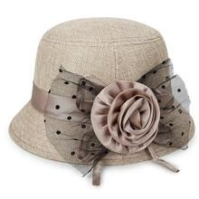 Женская Весенняя и летняя новая модная льняная Солнцезащитная шляпа с широкими полями с поясом Теплая Зимняя кепка женская шляпа от солнца# A