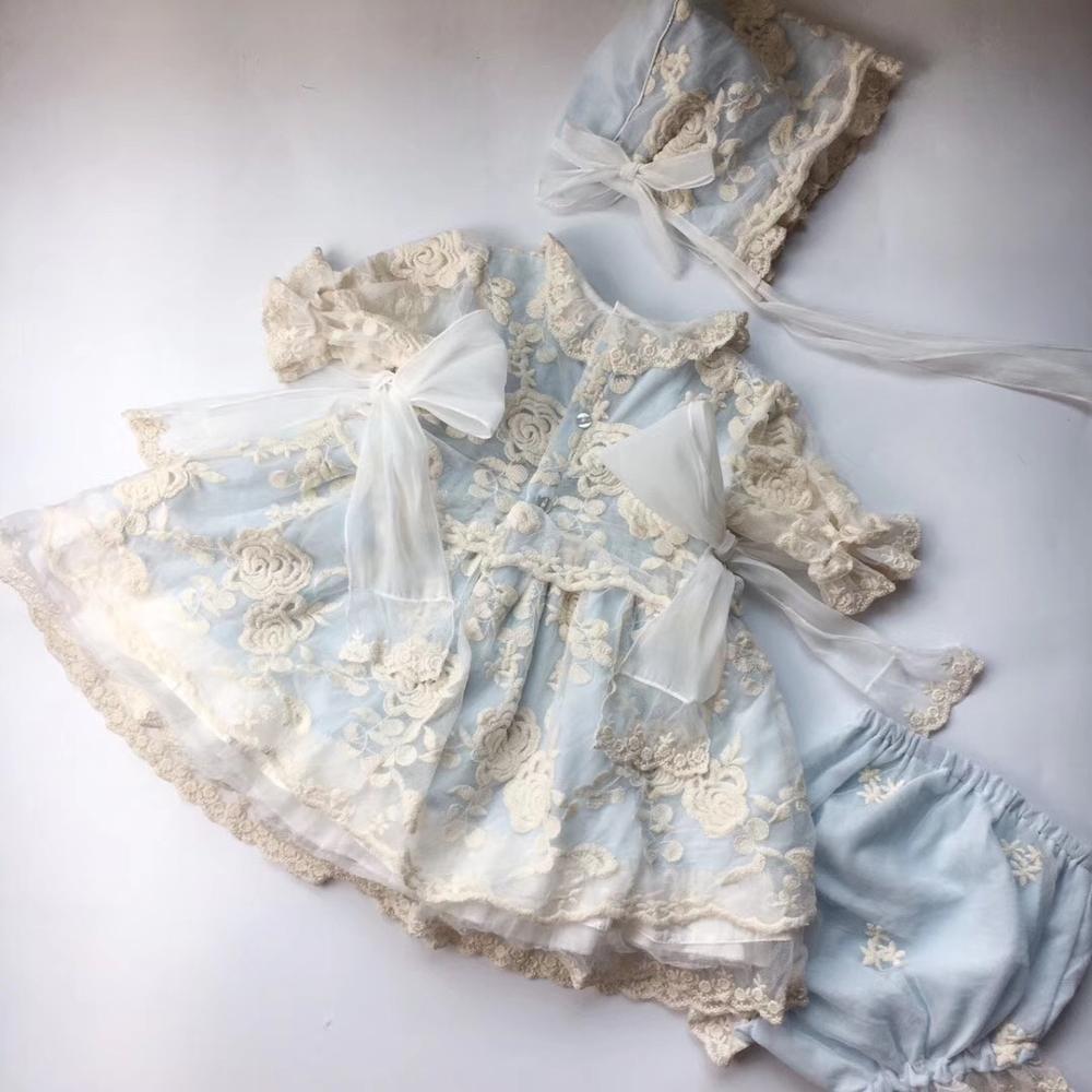 vintage design lace sweet toddler infant girls clothes set princess party dress setvintage design lace sweet toddler infant girls clothes set princess party dress set