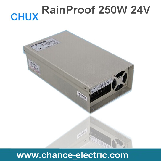 250W 24v LED driver Rain-Proof industry driver Switching mode Power Supply (FY250W-24V) ltc lc 12 250w energy efficient rain proof switching led power supply silver black 175 240v