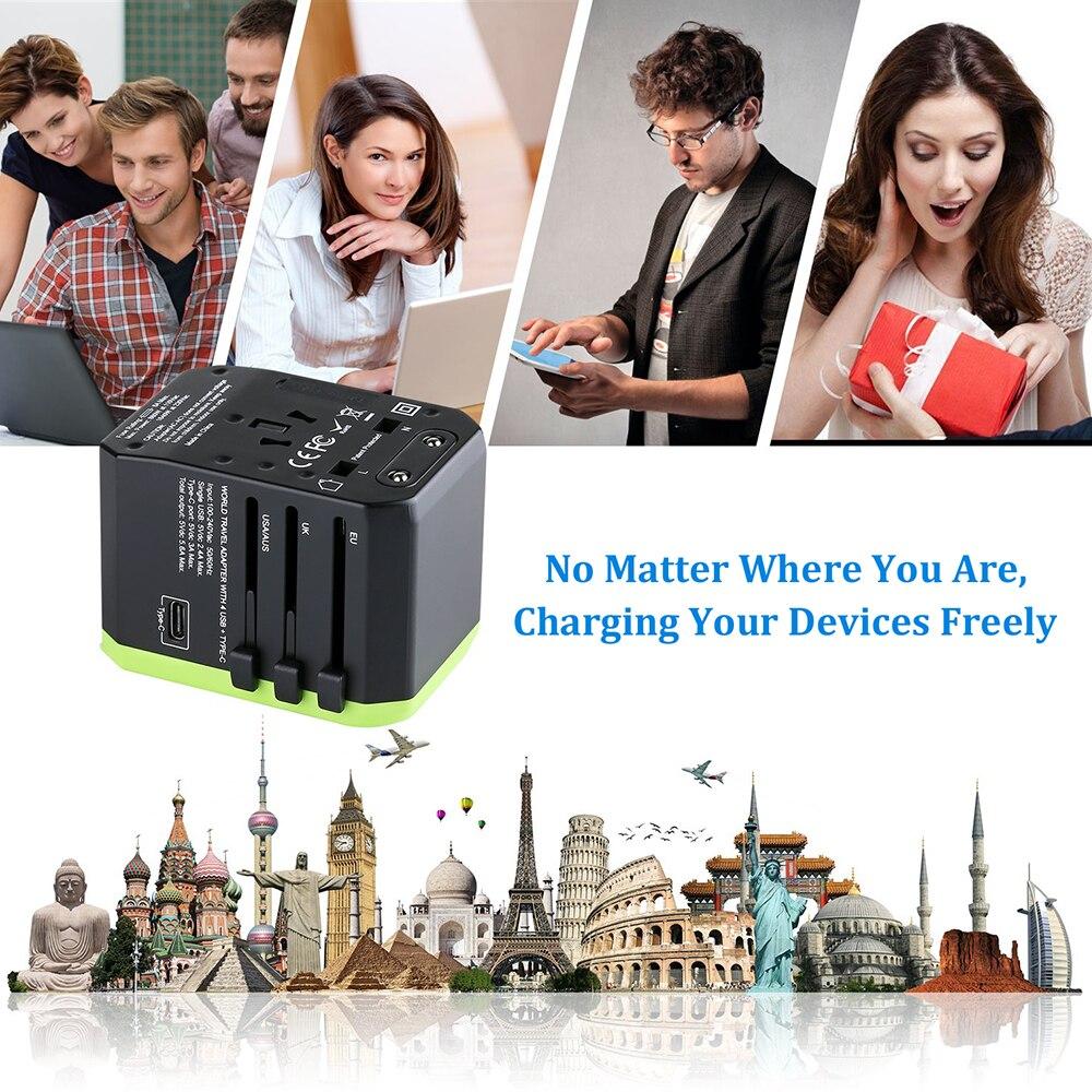 Image 5 - Rdxone adaptador de enchufe adaptador de viaje Universal Cargador/adaptador de corriente para nos UE Reino Unido es pared convertidor de enchufes eléctricosAdaptador de enchufe internacional   -