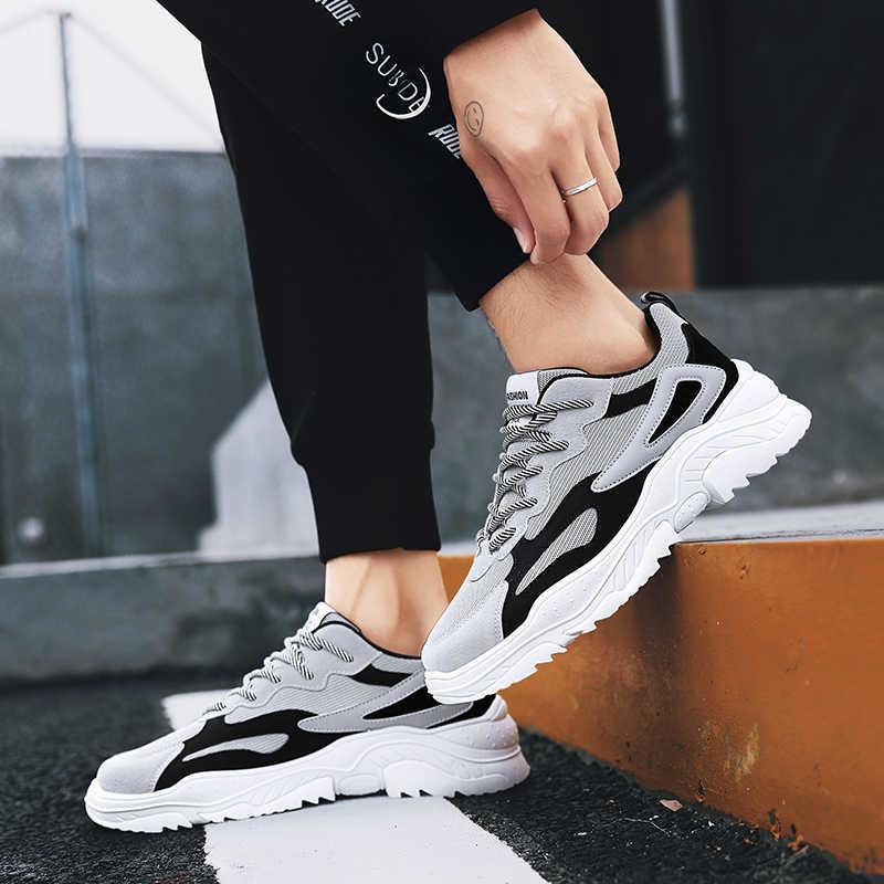 WOLF WHO/весенние винтажные кроссовки; мужская повседневная обувь с дышащей сеткой; мужские удобные модные теннисные кроссовки; Masculino Adulto; A-012