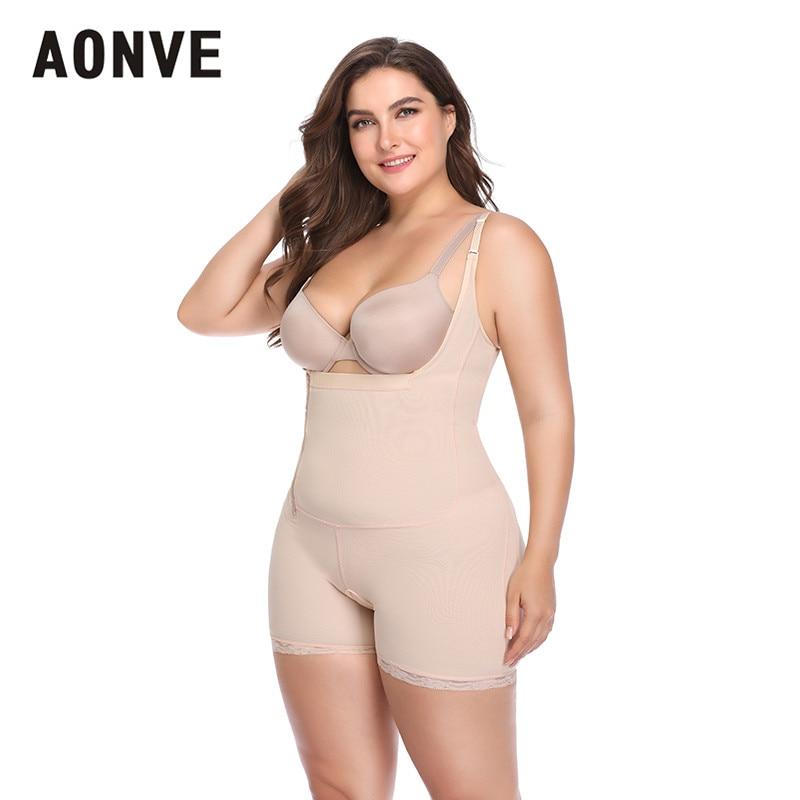 c12c0ac02e Aonve Women Belly Bodyshaper Waist Trainer With Slim Pants Plus Size 6XL  Hips Lifter Underbust Bodysuit