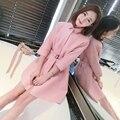 Замши овчины пальто женщин розовый пальто весна осень натуральной кожи куртка один кожаный дизайн одежды Новый Феникс