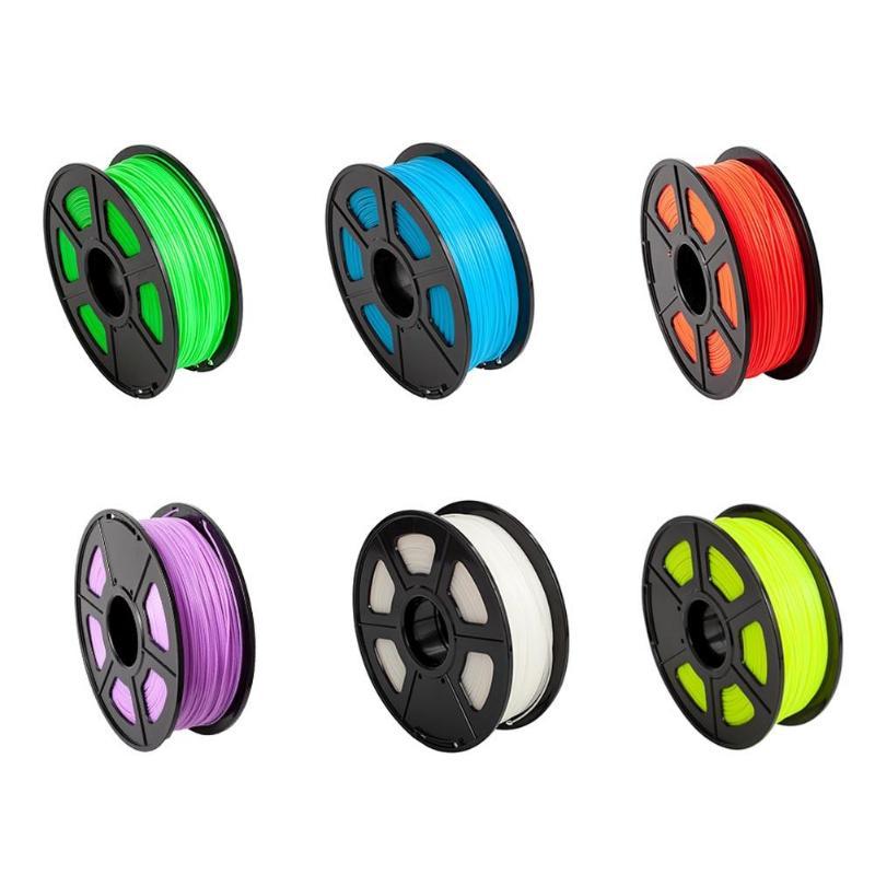 ALLOYSEED 1 pcs Fluorescence Filament Consommables 330 m Longueur PLA 1.75mm Différentes Couleurs En Plastique Filament Pour 3D Pièces D'impression
