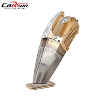 100W 12V Portable Car Vacuum Cleaner Wet&Dry Dual Use Super Auto Cleaning Inflation LED Light Tire Pressure Monitor Hepa Filter