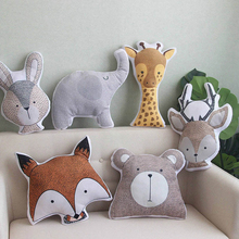 Kids Cute Educational Cushion Animals Baby Pillow Baby Room Decor Child Stuffed Soft Toys For Newborns Christmas Gifts 1Pcsv
