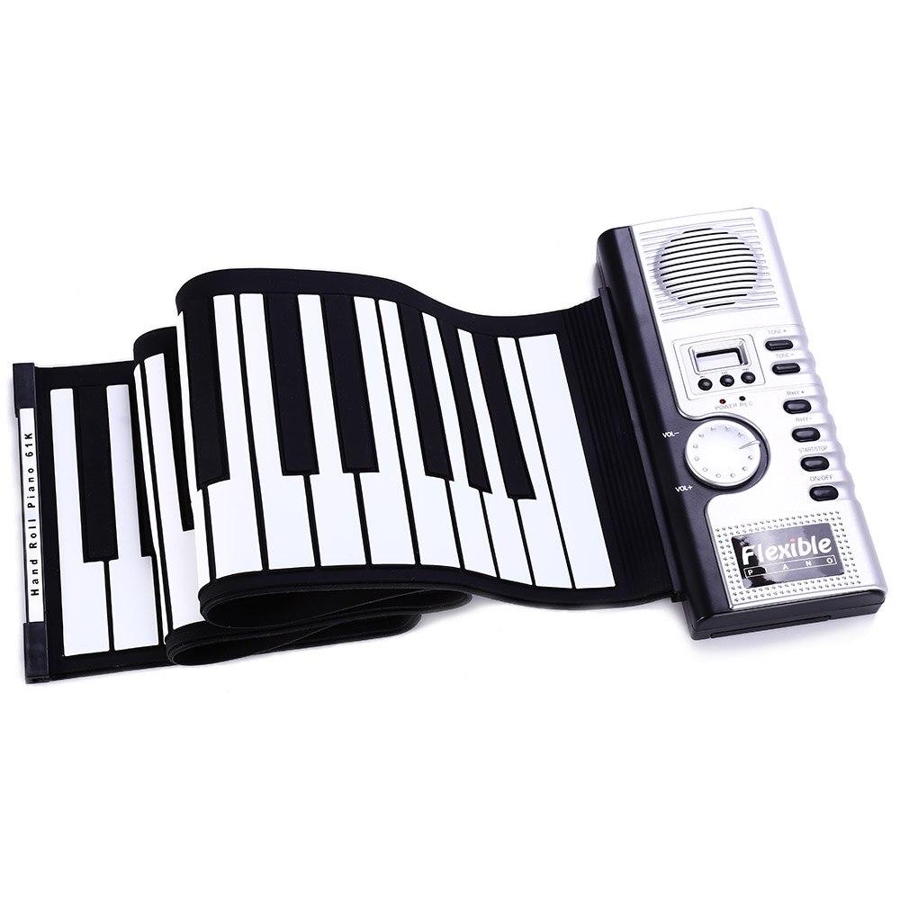 macio piano flexível eletrônico rolo acima piano