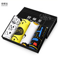 4pcs/lot Cotton men's underwear boxers pants cartoon printed boxer shorts a generation of young students odl