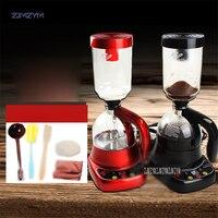 Casa máquina de café sifão elétrica máquina de café gotejamento chá sifão potes ampulheta vidro americano café TCA-3 400ml capacidade