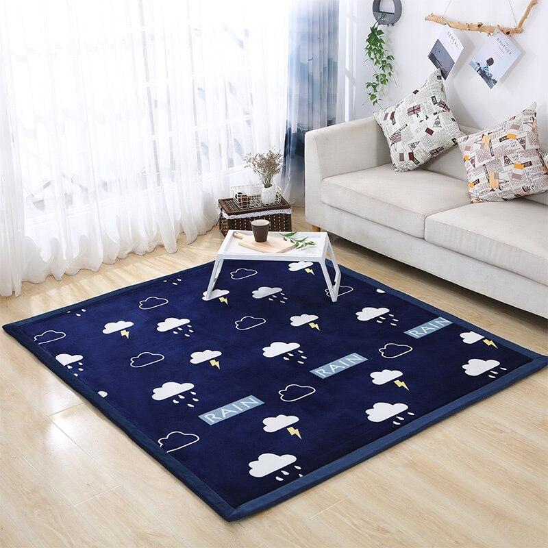 Nouveauté tapis épais en molleton de corail tapis tatami salon chambre tapis enfants tapis rampant Falais tatami tapis de sol