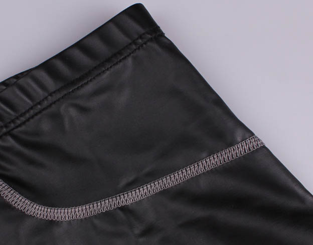 Men Faux Leather Boxers Shorts Underwear Sexy Performance Stage Slim Black Gay Male Underpants Panties Low rise sexy Undies in Boxers from Underwear Sleepwears