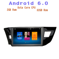 Octa Core Android 6 0 Car Radio Gps Player For Toyota Corolla 2014 2016 With 2g
