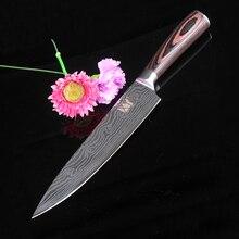 Kochmesser Nachahmung damaststahl küchenmesser hohe qualität santoku messer holzgriff sehr Scharf Cleaver Schneidmesser