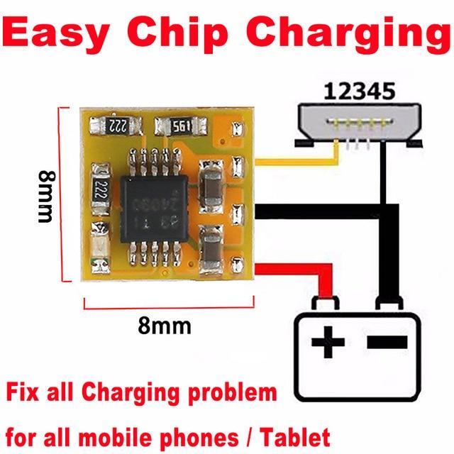 10pcs Original EASY ชิปชาร์จ ECC Fix All Charge ปัญหาสำหรับโทรศัพท์มือถือและแท็บเล็ต (IC ,PCB ปัญหา)