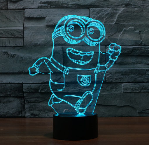 Despicable Me Minion 3D Stereoscopic Illusion LED Lamp