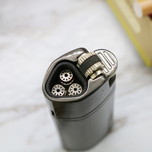 Three Fires Metal Torch Turbo Lighter gas Cigar Cigarettes Lighters Blue Flame Electronic Butane 1300C Mini