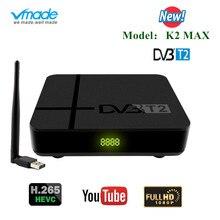 Nieuwste Dvb T2 H.265 Hevc Hd 1080P Terrestrial Ontvanger Dvb T2 Hd Ontvanger Decoder Dvb T2 Tv Tuner Met usb Wifi Ondersteuning Youtube
