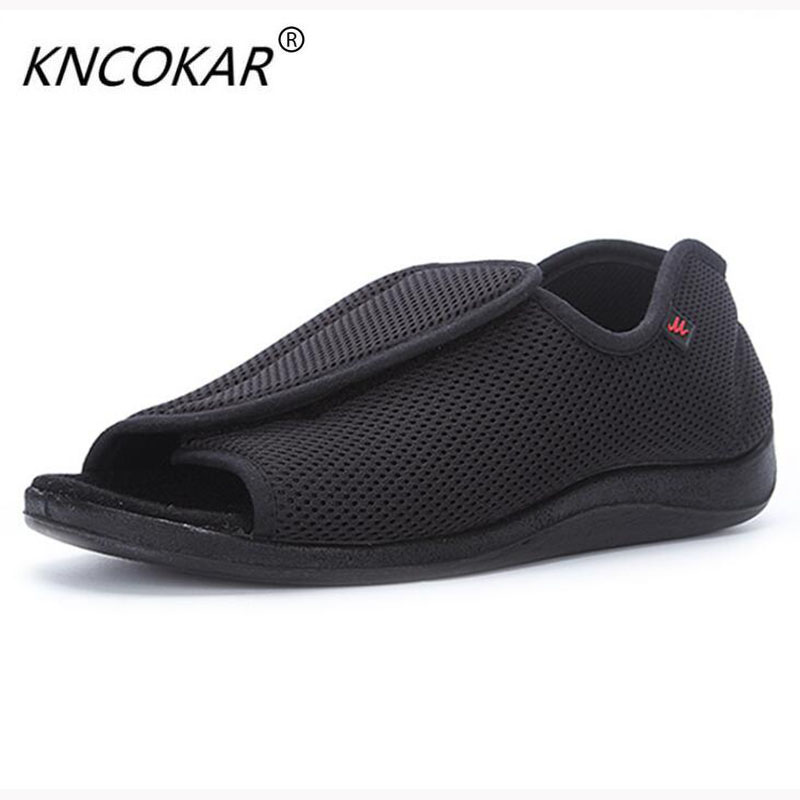 KNCOKAR 2018 Fashionable spring and autumn period new product old age can adjust add wide shoe foot swollen fat foot the person