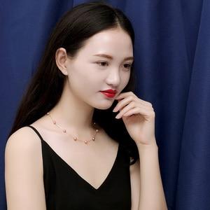 Image 4 - Ys 진주 목걸이 18k 순수 골드 여자 여자 기념일 선물 천연 진주 체인 목걸이 품질 상품 쥬얼리