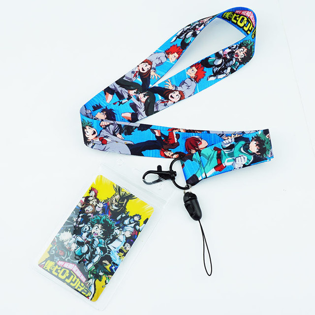 US $2 39 |Anime My Hero Academia Boku no Hero Academia Neck Strap Lanyards  for keys ID Card Mobile Phone Strap Badge Holder Rope Key Chain-in Key