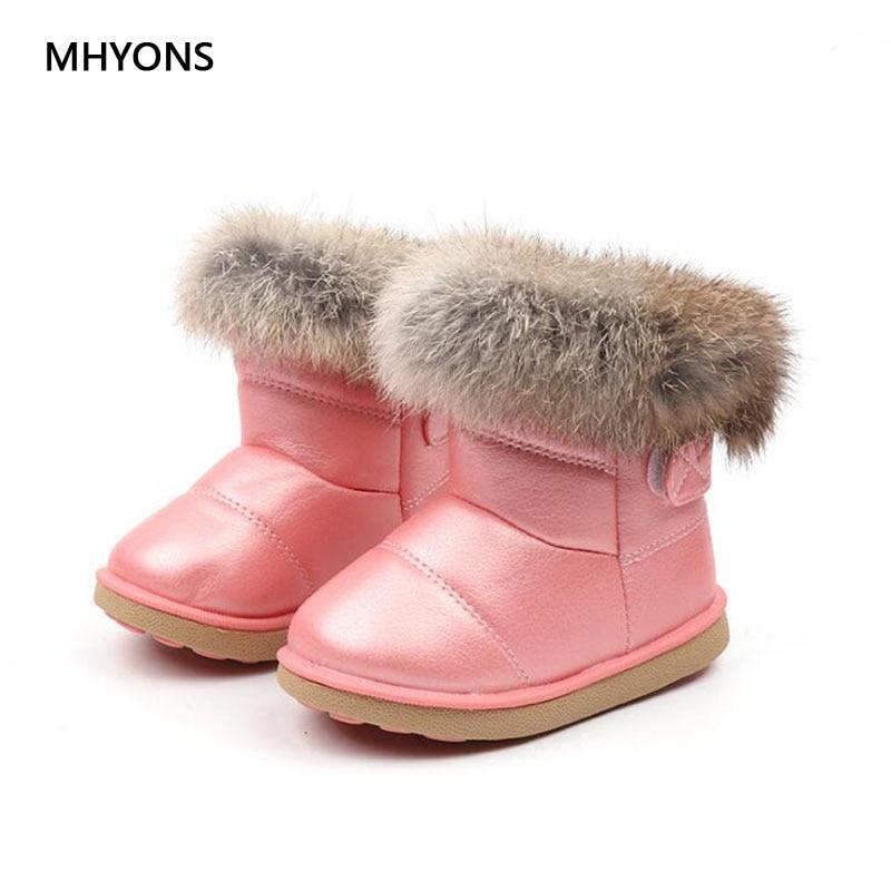 Fashion Boots Children's Shoes Girls Shoes Winter Warm Boots Children's Snow Boots Plush Cute Fashion Boots Children's Sneakers title=