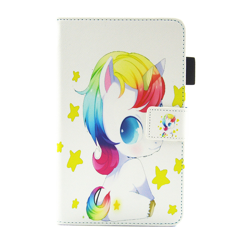For Samsung Tab A 2016 T280 Cute Cartoon Unicorn Leather Case For Samsung Galaxy Tab A A6 7.0 T280 T285 Tablet Cover Case