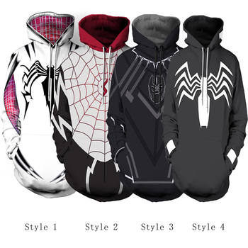 Free shipping woman and man's Spider-Gwen Gwen Stacy hoodie Black Panther hoodie Venom Spiderman hoodie clothes JQ-2600