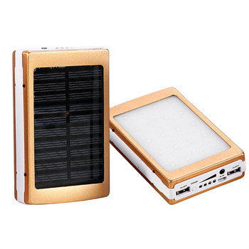 Dual USB Solar Mobile Power Bank