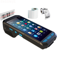 ENGONUS PDA Handheld Terminal with 58mm Printer 2D Laser Barcode Android 6.0 Scanner 4G Rugged NFC RFID card reader