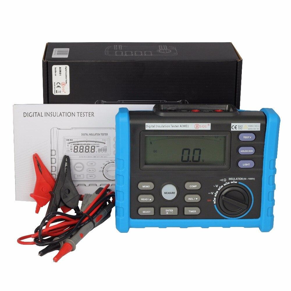 BSIDE AIM01 1000V Insulation Resistance Tester Analog & Digital Megger Meter 0.01~10G Ohm VS MS5203