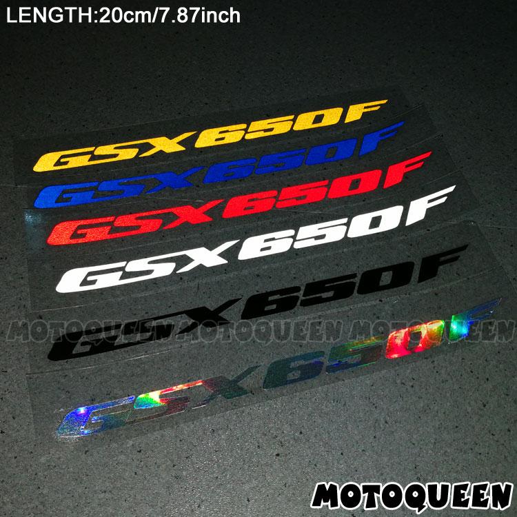 2PCS Reflective Motorcycle Wheels Fairing Helmet Side Tank Pad Decoration Logo Label Stickers Decals For SUZUKI GSX650F GSX 650F