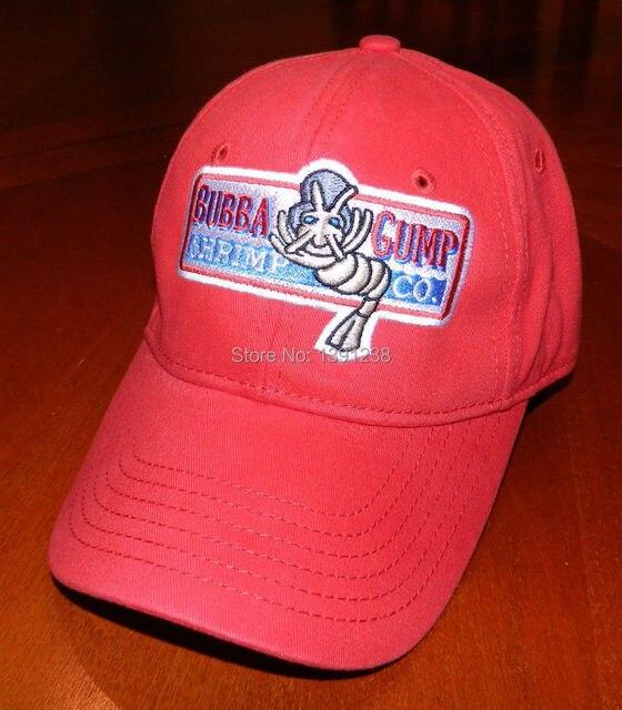 94f6387998a Bubba Gump Shrimp Co hat Run Forrest movie Fan Costume red Cap-in ...