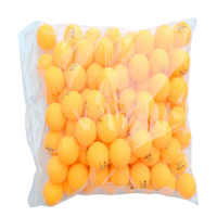 Wholesale Ping Pong Balls 100pcs 2 Stars 40mm Yellow Table Tennis Balls New Material Plastic Competition
