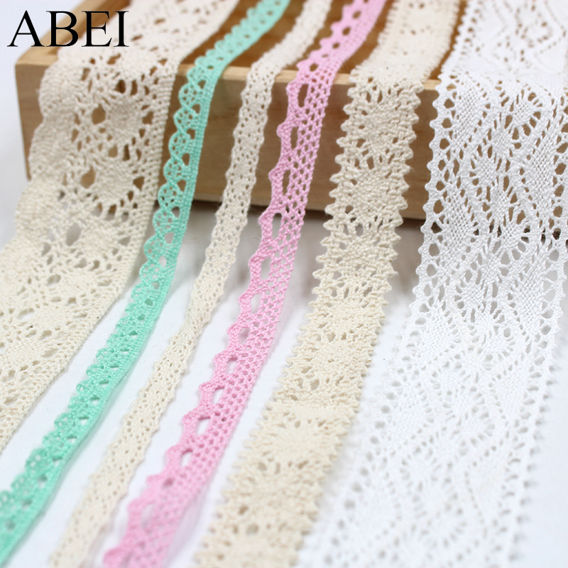 Home & Garden Useful 10yards/lot White Cotton Lace Trims 100% Cotton Beige Ribbon Material Diy Hometexile Curtain Clothes Fabric Lace Trimming Harmonious Colors