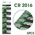 Ycdc poder real para assista botão bateria 5x3 v de lítio botão/coin células baterias cr2016 br2016 lm2016 dl2016 kcr2016 ee6225