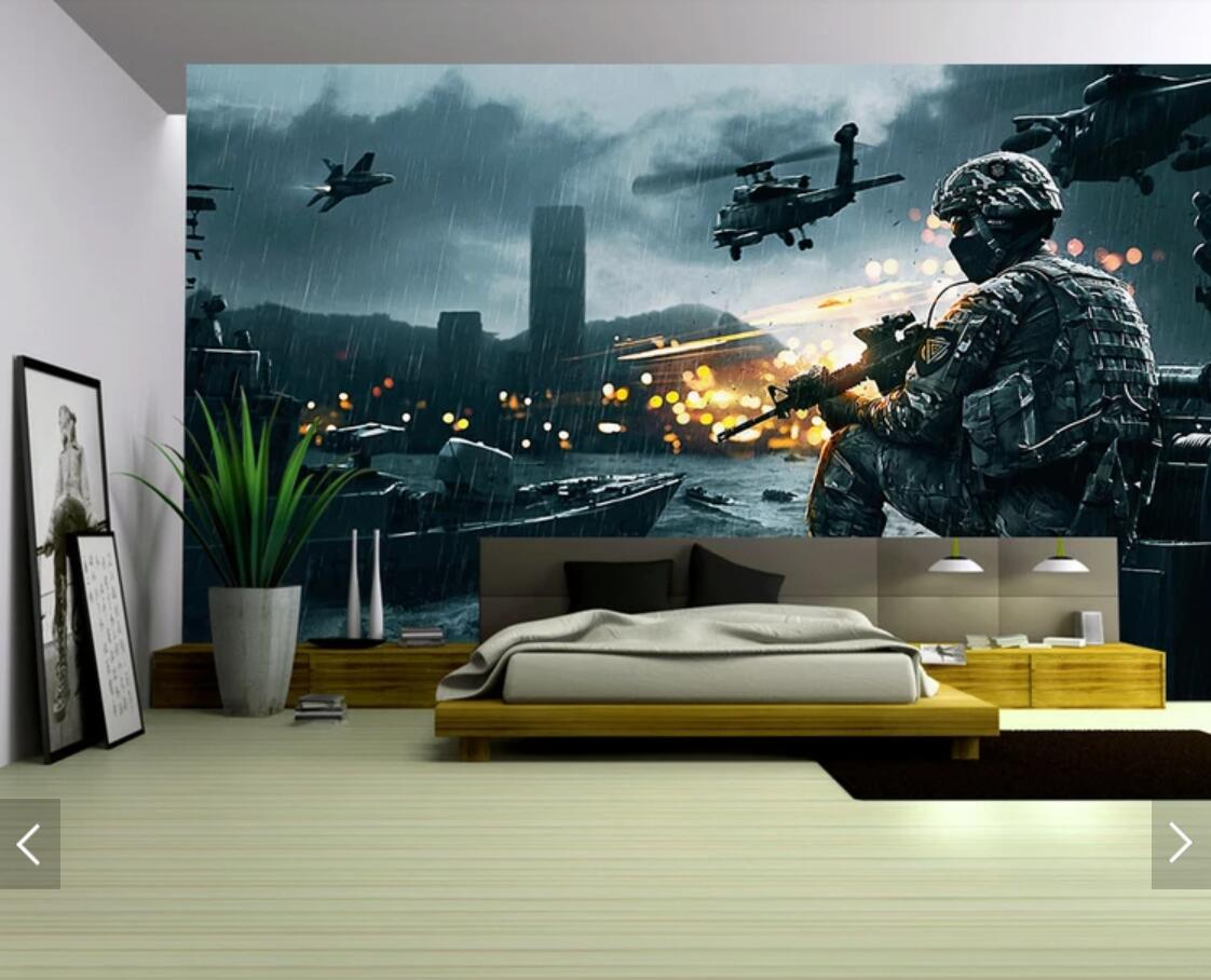 Gulf War Film Custom Photo Wall Paper 3D Stereo Wallpaper Mural for KTV TV Backdrop Wall Decorative Custom Size Printed Mural image