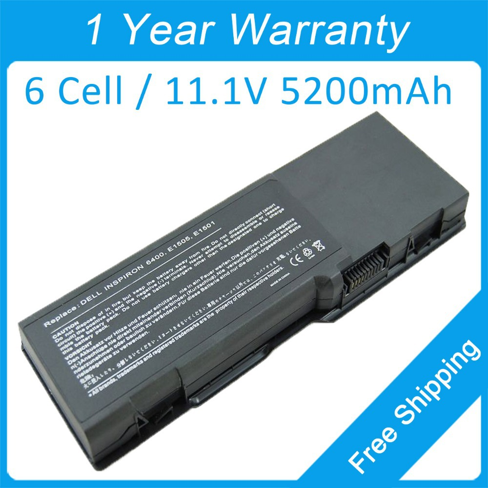 6 cell laptop <font><b>battery</b></font> for <font><b>dell</b></font> <font><b>Inspiron</b></font> <font><b>1501</b></font> 6400 E1501 E1505 TD347 TD349 UD260 UD264 UD265 UD267 XU937 312-0466 451-10482 image