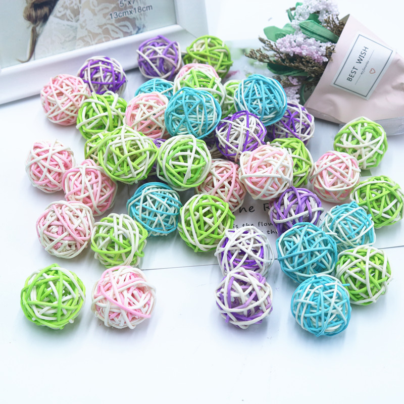 Home & Garden Strong-Willed 10pcs/lot Rattan Ball Diy Christmas Ornaments Wicker Sepak Takraw Ball Diy Wedding Party Home Decoration Photo Props Accessories