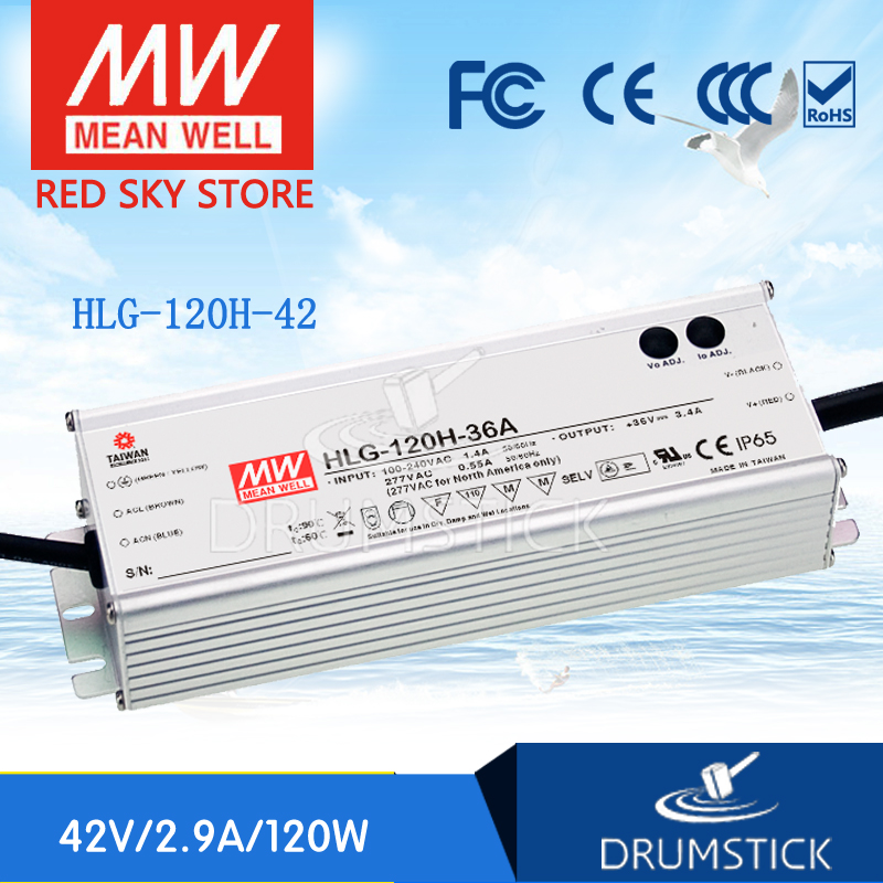 все цены на Best-selling MEAN WELL HLG-120H-42 42V 2.9A meanwell HLG-120H 42V 121.8W Single Output LED Driver Power Supply онлайн