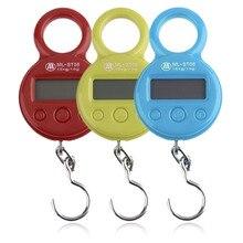 2 stücke Mini 10Kg/10g Tragbarer LCD-Display Angelhaken Elektronische Gewicht Digitalwaage Pocket Wiegen Hängewaage